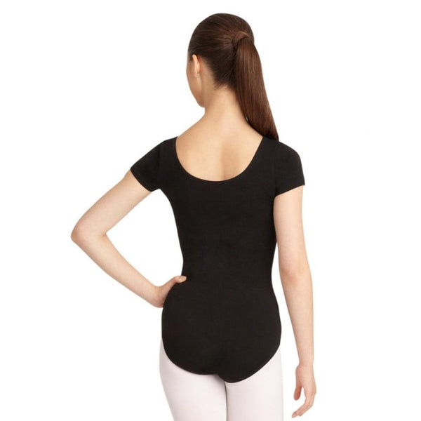 Black Short Sleeve Leotard CC400 by Capezio