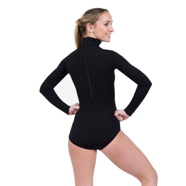 Zippered back long sleeve Capezio turtleneck leotard TB41