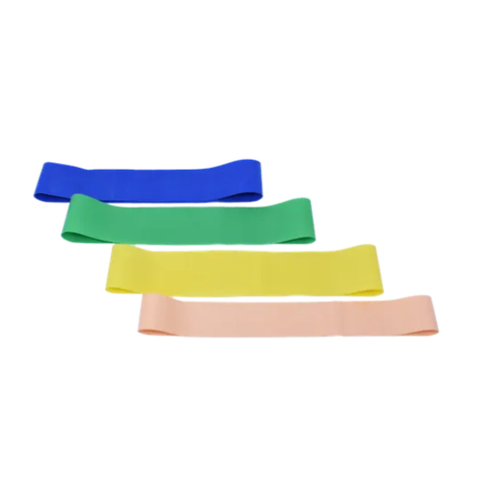 Set of 4 Leg Bands Short Latex Resistance Loop Bands