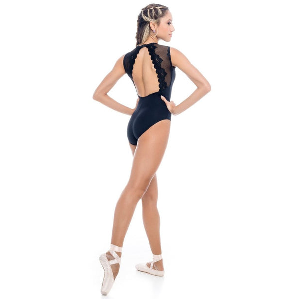 So Danca RDE1962 Ladies' Mesh Tank Leotard with Open Back