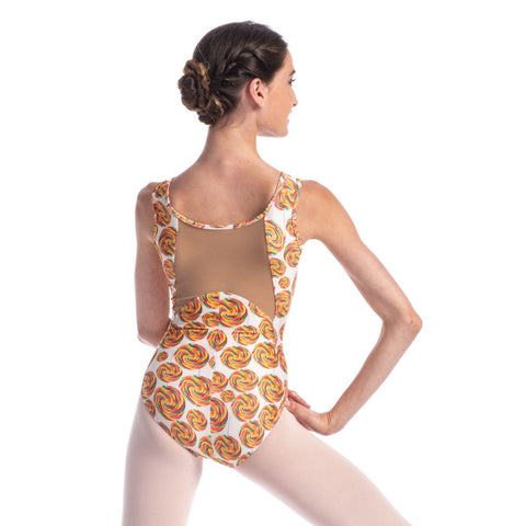 So Danca Sweets' Tank Leotard with Mesh Back (Donuts, Rainbow Candy, Ice Cream, Lollipops) - Adult Sizes RDE2028