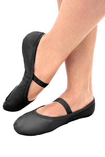 So Danca Full Sole Black Leather Ballet Shoes