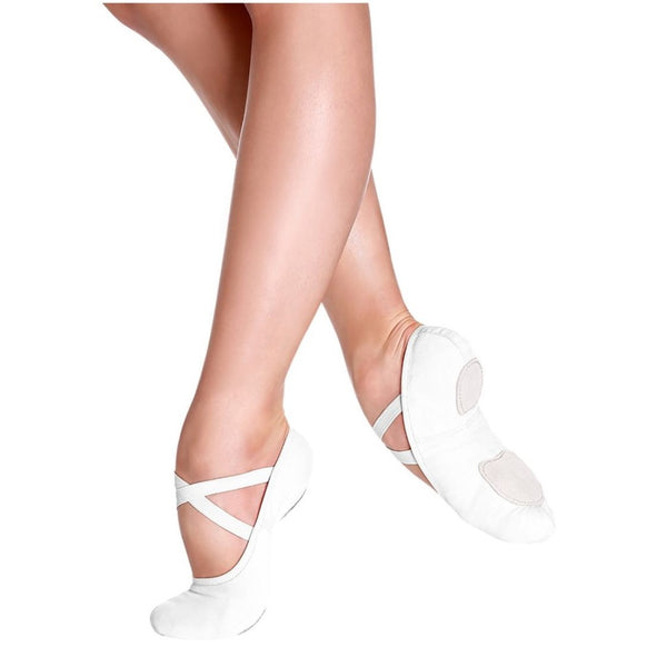 So Danca White Canvas Ballet Shoes Sd16 SD 18