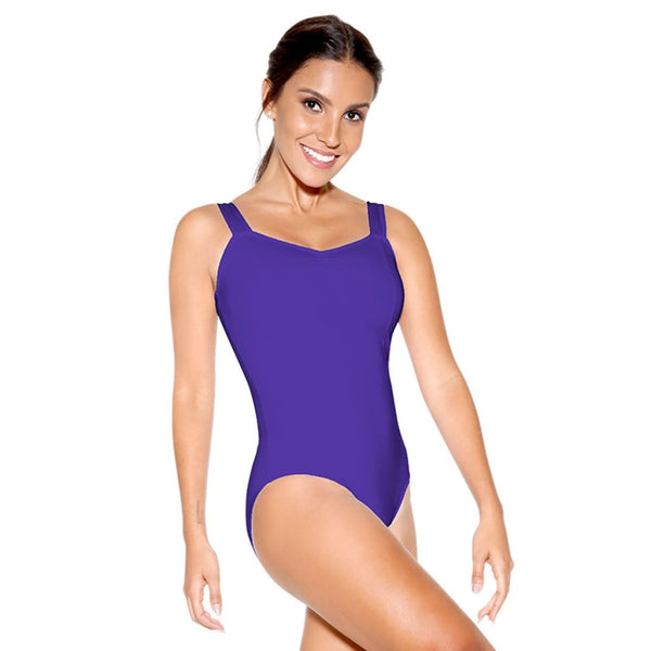 So Danca SL10 Pinch Front Tank Leotard w Princess Seams (10 Colors)
