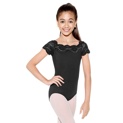 So Danca SL17 Child Lace Cap Sleeve Leotard (7 Colors)