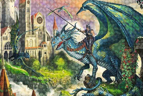 1000 Parts Puzzle Dragon | Engaging The Dragon