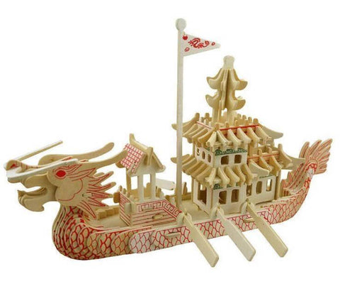 3D Puzzle Wooden Boat | Engaging The Dragon
