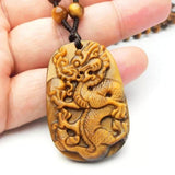 Dragon Pendant Tiger Eye