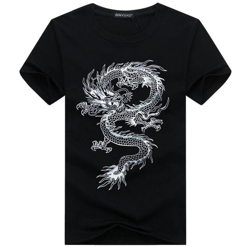 T Shirt Dragon Chinese Man