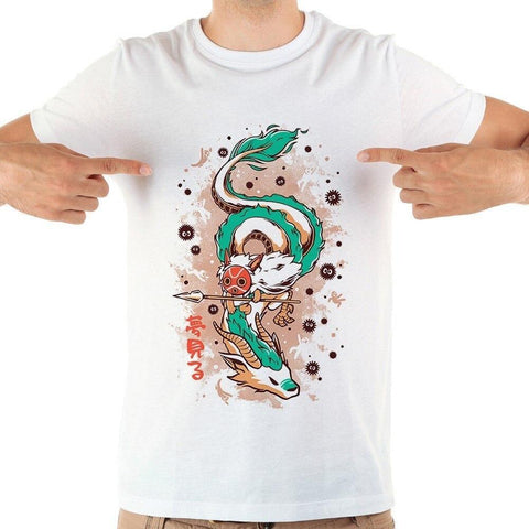 White T Shirt Dragon