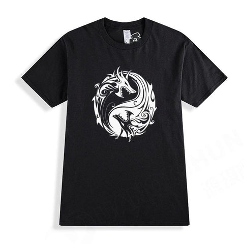 T Shirts Dragon Yin Yang