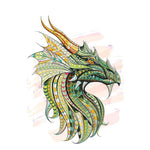 Painting Green Dragon
