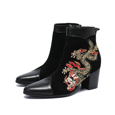 Black Suede Boots Woman