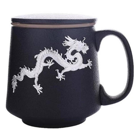 Ceramic Cup With Lid | Engaging The Dragon