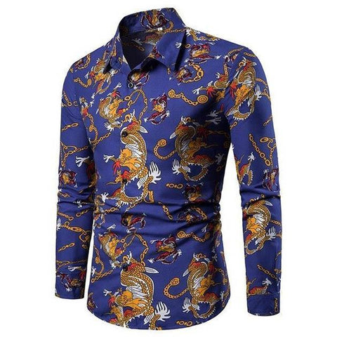 Hawaiian Shirt With Dragons