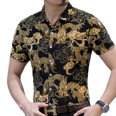 Shirt Black Dragon