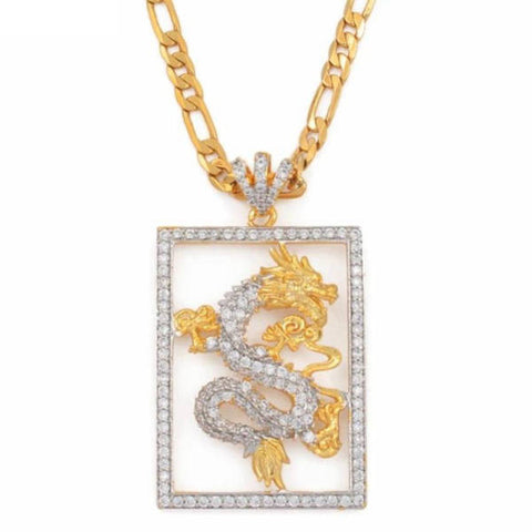 Chinese Dragon Pendant Gold | Engaging The Dragon