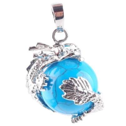 Dragon Necklace Blue Stone | Engaging The Dragon