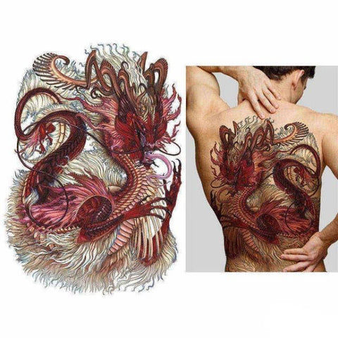 Ephemere Back Tattoo | Engaging The Dragon