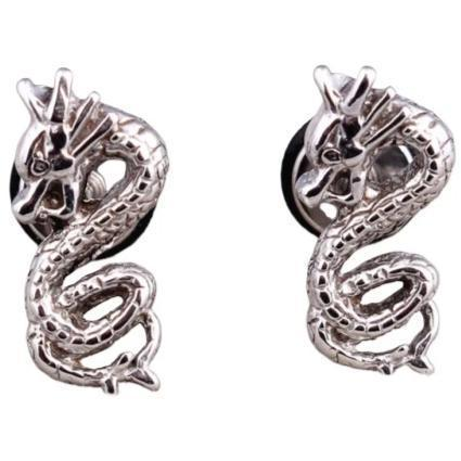 Loop Dragon Steel Earring | Engaging The Dragon