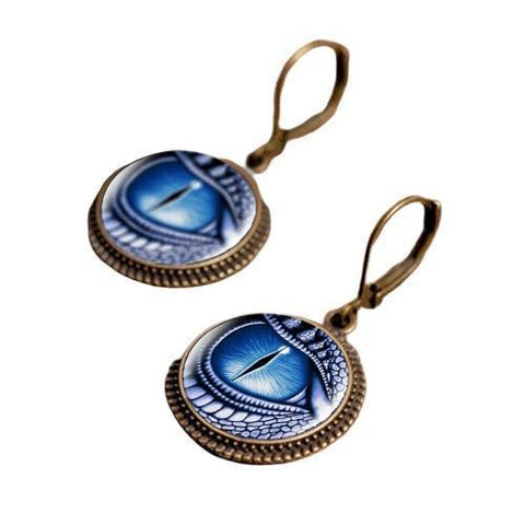 Loop Earring Blue Eye | Engaging The Dragon