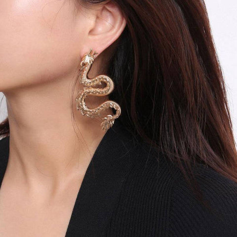 Loop Earring Chinese Dragon | Engaging The Dragon