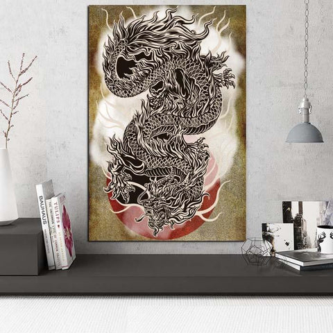 Painting Japanese Dragon