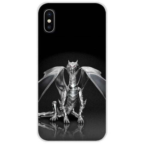 Phone Case Silver Iphone Phone Case 7 | Engaging The Dragon