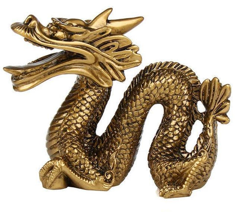 Chinese Resin Dragon Statue