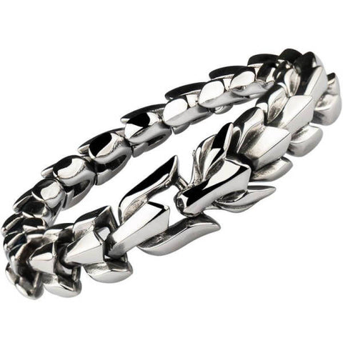 Steel Bracelet Dragon-Shaped | Engaging The Dragon