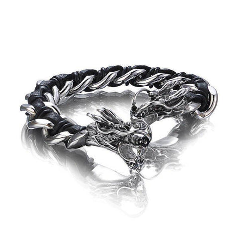 Steel Bracelet Man Heads Dragon | Engaging The Dragon