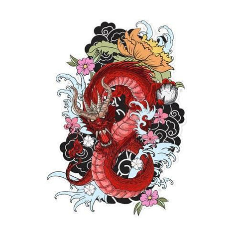 Dragon Stickers Flowers