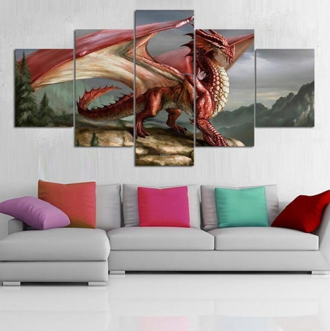 Red Paint Dragon