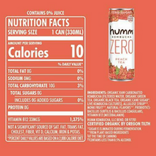 Load image into Gallery viewer, Humm Kombucha Zero Cans (12 pack)