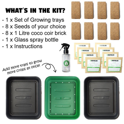 Create Your Own Kit + V.E.S. | 8 seed kit | Certified Organic Microgreen Grow Kit