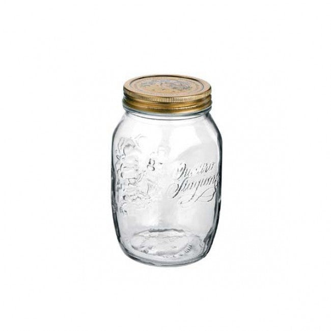 Sprouting Jar | 1 Litre | Wide Mouth Mason Jar