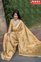 Brilliant Golden Color Soft Silk Designer Sarees,Sari
