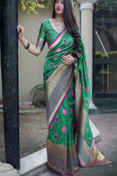 Audacious C Green Color Attractive Designer Silk Saree,Sari