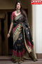 Blissful Black Color Soft Silk Designer Sarees,Sari