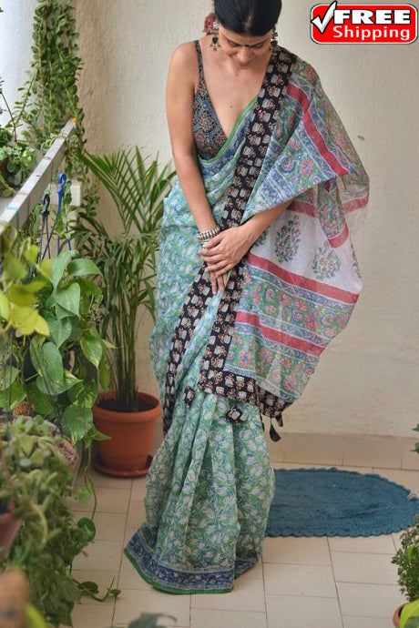 Multi Color Designer Hand Weaving Festival Wear Soft Cotton Silk Sarees,Sari