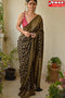 Grey Black Color Designer Hand Weaving Festival Wear Soft Cotton Silk Sarees,Sari