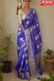 Beautiful Blue Color Soft Festival Wear Linen Silk Designer Sarees,Sari