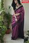 Beautiful Wine Color Soft Festival Wear Linen Silk Designer Sarees,Sari