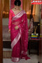 Awesome Maroon Color Linen Designer Soft Cotton Sarees,Sari
