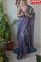 Contemporary Khadi Purple Color Hand Loom Designer Cotton Silk Saree