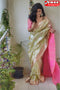 Beauteous Light Green Color Designer Soft Silk Saree
