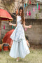 Soft Crap Fashionable Designer Sky Blue Colour Plazzo And Salwar Kurti