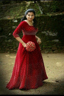 Red Color Beautiful Designer Party wear Gown