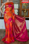 Charming Rani Golden Yellow Colores Box Pattrn Designer Cotton Silk Saree