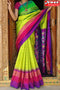 Stylish Parrot And Rani Shaded Color Soft Silk Designer Sarees,Sari